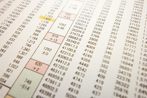 具体的なエリアや枚数が決まったら弊社担当が折込部数表で計算します。